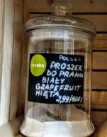 Proszek w poznańskim sklepie bez opakowań BIOrę